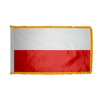 3x5 ft. Nylon Poland Flag Pole Hem and Fringe