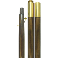 8 ft.x1-1/4 in. Oak Pole - Brass