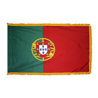 2x3 ft. Nylon Portugal Flag Pole Hem and Fringe