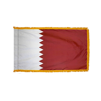 3x5 ft. Nylon Qatar Flag Pole Hem and Fringe