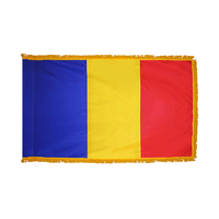 2x3 ft. Nylon Romania Flag Pole Hem and Fringe