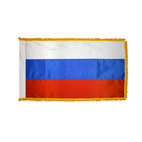 2x3 ft. Nylon Russia Flag Pole Hem and Fringe