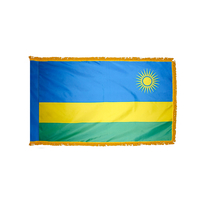 2x3 ft. Nylon Rwanda Flag Pole Hem and Fringe