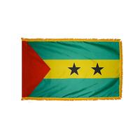 3x5 ft. Nylon Sao Tome / Principe Flag Pole Hem and Fringe