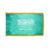 4x6 ft. Nylon Saudi Arabia Flag Pole Hem and Fringe