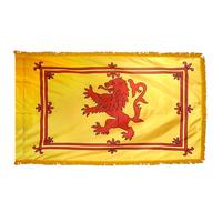 4x6 ft. Nylon Scotland (Lion) Flag Pole Hem and Fringe