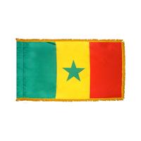 4x6 ft. Nylon Senegal Flag Pole Hem and Fringe