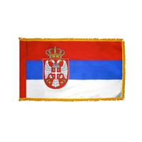 4x6 ft. Nylon Republic of Serbia Flag Pole Hem and Fringe