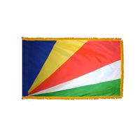 3x5 ft. Nylon Seychelles Flag Pole Hem and Fringe