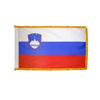 2x3 ft. Nylon Slovenia Flag Pole Hem and Fringe