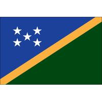 2x3 ft. Nylon Solomon Islands Flag Pole Hem and Fringe