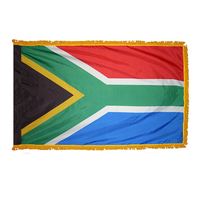 2x3 ft. Nylon South Africa Flag Pole Hem and Fringe