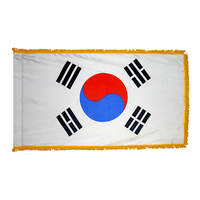 2x3 ft. Nylon Korea South Flag Pole Hem and Fringe