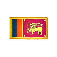 2x3 ft. Nylon Sri Lanka Flag Pole Hem and Fringe