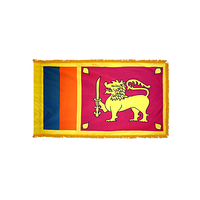 4x6 ft. Nylon Sri Lanka Flag Pole Hem and Fringe