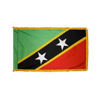 4x6 ft. Nylon St Kitts / Nevis Flag Pole Hem and Fringe