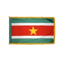 2x3 ft. Nylon Suriname Flag Pole Hem and Fringe