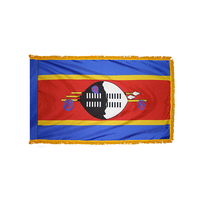 2x3 ft. Nylon Swaziland Flag Pole Hem and Fringe