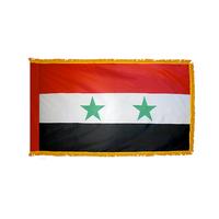 3x5 ft. Nylon Syria Flag Pole Hem and Fringe