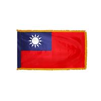 3x5 ft. Nylon China (Taiwan) Flag Pole Hem and Fringe