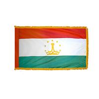 4x6 ft. Nylon Tajikistan Flag Pole Hem and Fringe