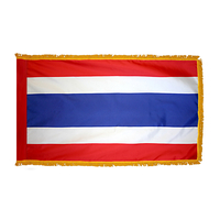 3x5 ft. Nylon Thailand Flag Pole Hem and Fringe