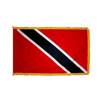 3x5 ft. Nylon Trinidad/Tobago Flag Pole Hem and Fringe