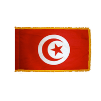 2x3 ft. Nylon Tunisia Flag Pole Hem and Fringe
