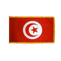 4x6 ft. Nylon Tunisia Flag Pole Hem and Fringe