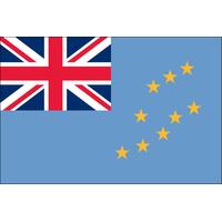 3x5 ft. Nylon Tuvalu Flag Pole Hem and Fringe