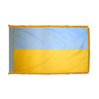 3x5 ft. Nylon Ukraine Flag Pole Hem and Fringe