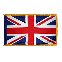 2x3 ft. Nylon United Kingdom Flag Pole Hem and Fringe