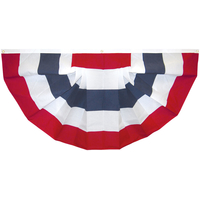 3x6 ft. Nylon Pleated Fan Flag with 5 Stripes