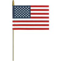 4x6 in. Cotton U.S. Flag No-Sew Spearheads