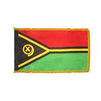 4x6 ft. Nylon Vanuatu Flag Pole Hem and Fringe