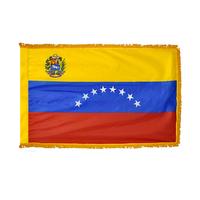 3x5 ft. Nylon Venezuela Flag Pole Hem and Fringe