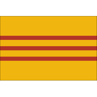 4x6 ft. Nylon South Vietnam Flag Pole Hem and Fringe