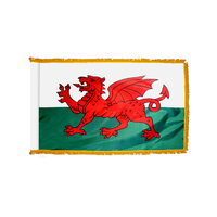 3x5 ft. Nylon Wales Flag Pole Hem and Fringe