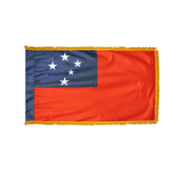 2x3 ft. Nylon Samoa Flag Pole Hem and Fringe