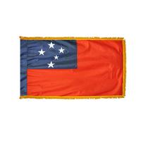 3x5 ft. Nylon Samoa Flag Pole Hem and Fringe