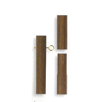 9 ft. x 1-1/4 in. Wood Grain Vinyl Steel Cover Pole