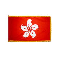 2x3 ft. Nylon Xian gang / Hong Kong Flag Pole Hem and Fringe