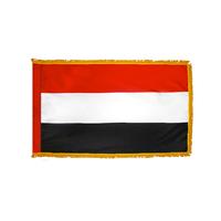 2x3 ft. Nylon Yemen Flag Pole Hem and Fringe