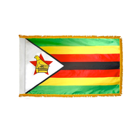 3x5 ft. Nylon Zimbabwe Flag Pole Hem and Fringe