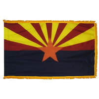 3x5 ft. Nylon Arizona Flag Pole Hem and Fringe