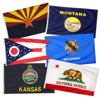 2x3 ft. Set Nylon 50 State Flag with Heading and Grommets