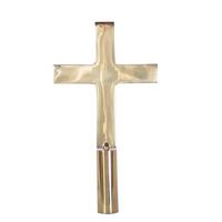 8 in. Brass Church Cross with Ferrule