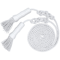 6 ft.x108in. White Tassel and Cord