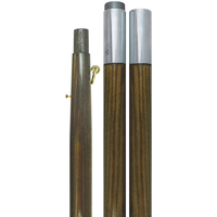 9 ft.x1-1/4 in. Oak Pole - Chrome