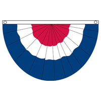 18x36 in. Nylon Red/White/Blue Fan